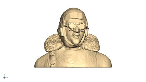 1112 World War 1 pilot with goggles snarling