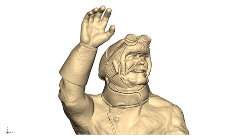 1109 WW1 Pilot Bust Waving