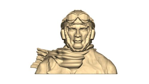 1108 WW1 Pilot Bust with scarf