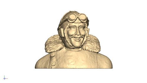 1104 WW1 Moustached Pilot 3 Bust