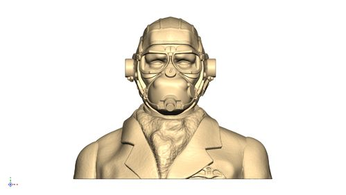 2106 WW2 RAF Pilot Bust mask on and goggles down