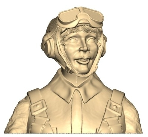 2114 WW2 Female Russian pilot bust