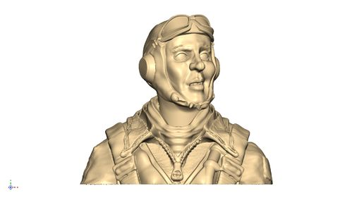 2120  WW2 USAAF  bust pilot with AN6530 goggles
