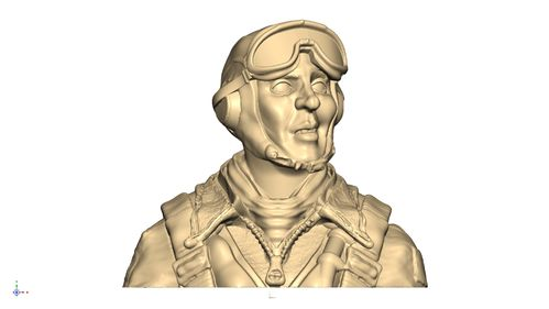 2121 WW2 USAAF  bust pilot with B8 goggles