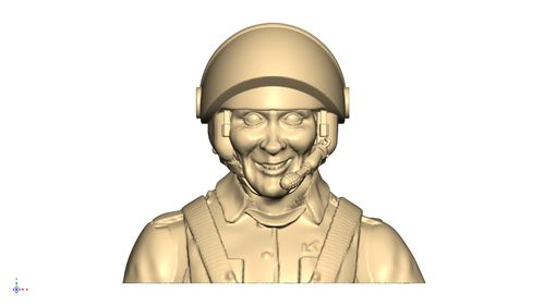 3106 Civil Leisure Male pilot bust with helmet