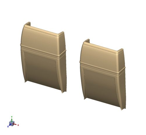 7409 WW2 Spitfire Air Intakes (pair)